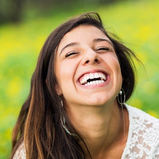 woman with big smile