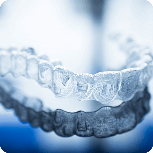 Clear Aligners on table